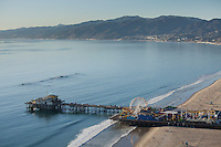 Santa Monica pier, Santa Monica, CA aerial