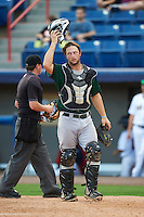 Daytona Tortugas catcher Garrett Boulware (10) during a game against the Brevard County Manatees on August 14, 2016 at Space Coast Stadium in Viera, Florida.  Daytona defeated Brevard County 9-3.  (Mike Janes/Four Seam Images)