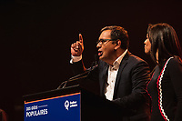 Andres Fontecilla lors de La soiree electorale de Quebec Solidaire, le 1er octobre 2018<br /> <br /> PHOTO : Agence Quebec Presse<br /> - Philippe Manh Nguyen
