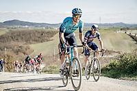 Jakob Fuglsang (DEN/Astana - Premier Tech)<br /> <br /> 15th Strade Bianche 2021<br /> ME (1.UWT)<br /> 1 day race from Siena to Siena (ITA/184km)<br /> <br /> ©kramon