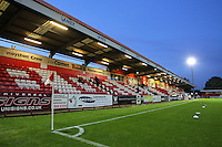 General view of the ground under the floodlights during Stevenage vs Mansfield Town, Sky Bet League 2 Football at the Lamex Stadium, Stevenage, England on 29/09/2015