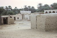 Al Ain, UAE, March 1972. Village Houses.