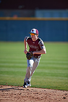William Burbank (6) of Monsignor Kelly Catholic High School in Beaumont, Texas during the Baseball Factory All-America Pre-Season Tournament, powered by Under Armour, on January 13, 2018 at Sloan Park Complex in Mesa, Arizona.  (Mike Janes/Four Seam Images)