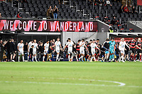 16th April 2021; Bankwest Stadium, Parramatta, New South Wales, Australia; A League Football, Western Sydney Wanderers versus Brisbane Roar; Brisbane take to the pitch before kick off
