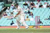 7th January 2021; Sydney Cricket Ground, Sydney, New South Wales, Australia; International Test Cricket, Third Test Day One, Australia versus India; David Warner of Australia watches as he is caught by Cheteshwar Pujaraof India
