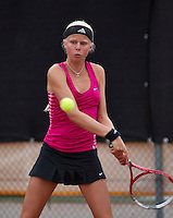 07-08-13, Netherlands, Rotterdam,  TV Victoria, Tennis, NJK 2013, National Junior Tennis Championships 2013, Eva Vedder<br /> <br /> <br /> Photo: Henk Koster