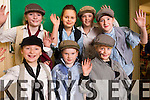 Presentation Primary School Students in rehearsal for Oliver Twist  on Tuesday morning were l-r: Eavan Shanahan, Danielle Griffin and Katie Ronan. Back l-r: Lauren Smullen, Dominika Czyriwiwcz, Ella Foley and Ava Hennessy.
