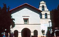 California Missions: Mission San Juan Bautista--Church Facade.