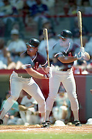 Boston Red Sox third baseman Wade Boggs double exposure during spring training circa 1991 at Chain of Lakes Park in Winter Haven, Florida.  (MJA/Four Seam Images)