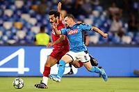 Mohamed Salah of Liverpool , Mario Rui of SSC Napoli <br /> Napoli 17-9-2019 Stadio San Paolo <br /> Football Champions League 2019/2020 <br /> SSC Napoli - Liverpool FC <br /> Photo Cesare Purini / Insidefoto