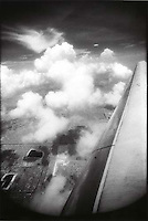 View out of airplane window<br />