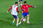 Spainsh Dani Carvajal and Nolito during the training at Nuevo Los Carmenes Stadium in Granada, Spain. November 11, 2016. (ALTERPHOTOS/Rodrigo Jimenez)