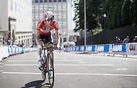 Tim Wellens (BEL/Lotto-Soudal) has done his part for the team and now pedals towards the finish<br /> <br /> Elite Men's Team Time Trial<br /> UCI Road World Championships Richmond 2015 / USA