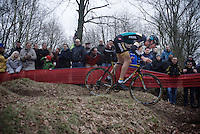 Race leader Toon Aerts (BEL/Telenet-Fidea) pushing forward<br /> <br /> Soudal Classic Leuven 2016