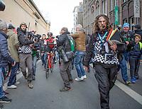 Greg Van Avermaet (BEL/BMC) after finishing<br /> <br /> 72nd Omloop Het Nieuwsblad 2017