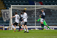 16th March 2021; Dens Park, Dundee, Scotland; Scottish Championship Football, Dundee FC versus Ayr United; Mark McKenzie of Ayr United shoots and scores for 3-0 in the 82nd minute