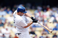 Jeff Kent of the Los Angeles Dodgers during a 2007 MLB season game at Dodger Stadium in Los Angeles, California. (Larry Goren/Four Seam Images)