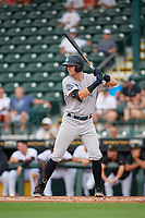 Tampa Tarpons Trey Sweeney (4) bats during Game One of the Low-A Southeast Championship Series against the Bradenton Marauders on September 21, 2021 at LECOM Park in Bradenton, Florida.  (Mike Janes/Four Seam Images)