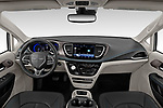 Stock photo of straight dashboard view of 2021 Chrysler Pacifica Touring-L 5 Door Minivan Dashboard