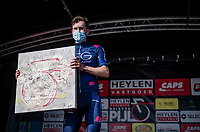 Sean Flynn (GBR/SEG) is awarded  the 'Trofee Michael Goolaerts' as the most combatative rider <br /> <br /> Heylen Vastgoed Heistse Pijl 2021 (BEL)<br /> One day race from Vosselaar to Heist-op-den-Berg (BEL/193km)<br /> <br /> ©kramon