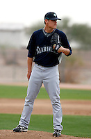 Chris Jakubauskas -  Seattle Mariners - 2009 spring training.Photo by:  Bill Mitchell/Four Seam Images
