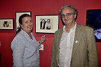Isabelle TCHERNIA, Jean-Francois TCHERNIA - Vernissage de l'exposition Goscinny - La Cinematheque francaise 02 octobre 2017 - Paris - France