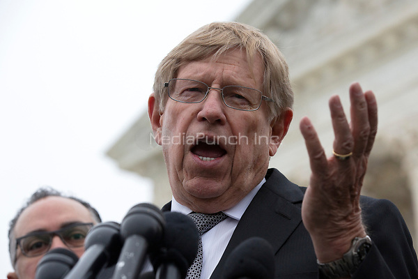 Former United States Solicitor General Ted Olson speaks to the press after the Supreme Court heard arguments on the Deferred Action for Childhood Arrivals program in Washington D.C., U.S. on Tuesday, November 12, 2019.<br /> <br /> Credit: Stefani Reynolds / CNP /MediaPunch
