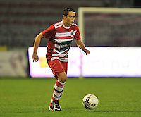 20130913 - ANTWERPEN , BELGIUM : Antwerp Charlotte Andries pictured during the female soccer match between Royal Antwerp FC Vrouwen / Ladies and K AA Gent Ladies at the BOSUIL STADIUM , of the fourth matchday in the BENELEAGUE competition. Friday 13 September 2013. PHOTO DAVID CATRY