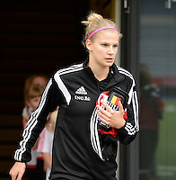 20150523 - SINT-TRUIDEN ,  BELGIUM : Belgian Justine Vanhaevermaet pictured during the friendly soccer game between the Belgian Red Flames and Norway, a preparation game for Norway for the Women's 2015 World Cup, Saturday 23 May 2015 at Staaien in Sint-Truiden , Belgium. PHOTO DAVID CATRY
