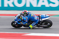 2nd October 2021; Austin, Texas, USA;  Joan Mir (36) - (SPA) riding a Suzuki for the Team SUZUKI ECSTAR at turn 19 during Free Practise 3 at the MotoGP Red Bull Grand Prix of the Americas held October 2, 2021 at the Circuit of the Americas in Austin, TX.