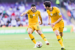 Tom Rogic of Australia (L) in action during the AFC Asian Cup UAE 2019 Group B match between Australia (AUS) and Jordan (JOR) at Hazza Bin Zayed Stadium on 06 January 2019 in Al Ain, United Arab Emirates. Photo by Marcio Rodrigo Machado / Power Sport Images