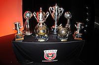 DC United trophies.  At the 6th Annual DC United Awards Presentation ,at the Atlas Performing Arts Center in Washington DC ,Wednesday October 27, 2009.