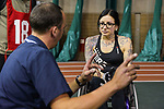 MONTREAL, QC - APRIL 29:  A participant speaks with an evaluator during the 2017 Montreal Paralympian Search at Complexe sportif Claude-Robillard. Photo: Minas Panagiotakis/Canadian Paralympic Committee