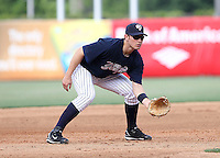 April 19, 2010: Infielder Bradley Suttle of the Tampa Yankees during a game at George M Steinbrenner Field in Tampa, FL. Tampa is the Florida State League High Class-A affiliate of the New York Yankees. Photo By Mark LoMoglio/Four Seam Images