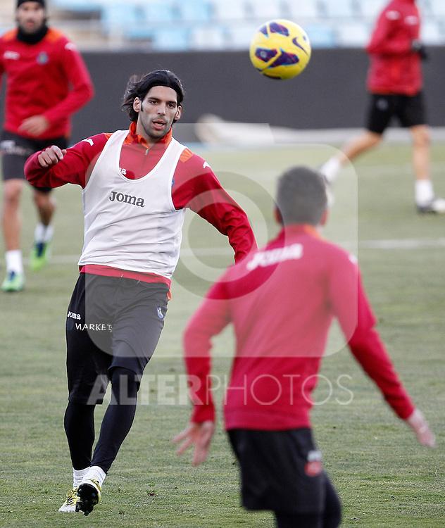 Getafe's Angel Lafita during training session.December 05,2012.(ALTERPHOTOS/Acero)