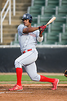 Michael Taylor (54) of the Lakewood BlueClaws follows through on his swing versus the Kannapolis Intimidators at Fieldcrest Cannon Stadium in Kannapolis, NC, Sunday, May 11, 2008.