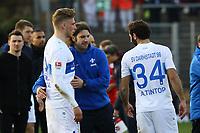 Trainer Torsten Frings (SV Darmstadt 98) mit Felix Platte (SV Darmstadt 98) und Hamit Altintop (SV Darmstadt 98) - 11.03.2017: SV Darmstadt 98 vs. 1. FSV Mainz 05, Johnny Heimes Stadion am Boellenfalltor