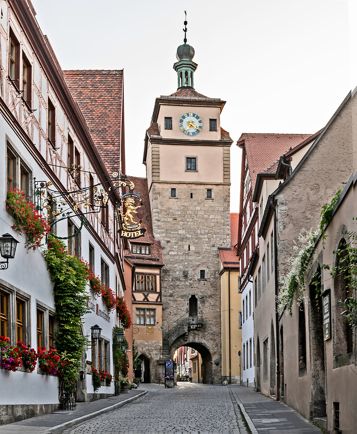 This is the Weisser Turm, or White Tower. It is part of the older inner circle of fortifications of the town.