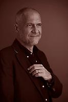 Alberto Carlini, scrittore, poeta. Libri, cultura italiana. A.Carlini, G.M. Villalta, V. Gasparet. Sono gli inventori di Pordenonelegge. Pordenonelegge, 19 settembre 2020. Photo by Leonardo Cendamo/Gettyimages