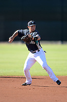 Seattle Mariners shortstop Taylor Smart (5) during practice before an Instructional League game against the Milwaukee Brewers on October 4, 2014 at Peoria Stadium Training Complex in Peoria, Arizona.  (Mike Janes/Four Seam Images)