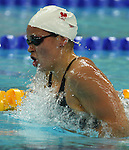 Valerie Grand'Maison of Montreal swims to the bronze in women's 200 metre individual medley at the swimming finals at the Paralympic Games in Beijing, Friday, Sept., 12, 2008.    Photo by Mike Ridewood/CPC