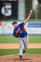 Pitcher Walker Robbins (21) of George County High School in Leakesville, Mississippi playing for the New York Mets scout team during the East Coast Pro Showcase on July 28, 2015 at George M. Steinbrenner Field in Tampa, Florida.  (Mike Janes/Four Seam Images)