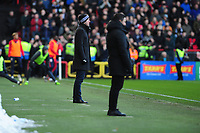 Graham Potter Manager of Swansea City in action  during the Sky Bet Championship match between Bristol City and Swansea City at Ashton Gate in Bristol, England, UK. Monday 02 February 2019