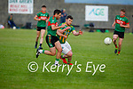 Beale's Jeremy King and Lispoles Tom Kavanagh tussle for possession in the County Senior football league
