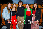 Enjoying the evening in Croi on Saturday, l to r: Isabelle Carnegie, Kasey O'Connor, Miguel Ryan, Ciara O'Mahoney and Ailbhe Hussey.