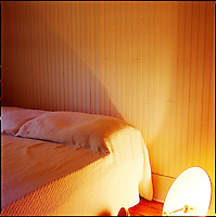 Bedroom with overturned lamp<br />