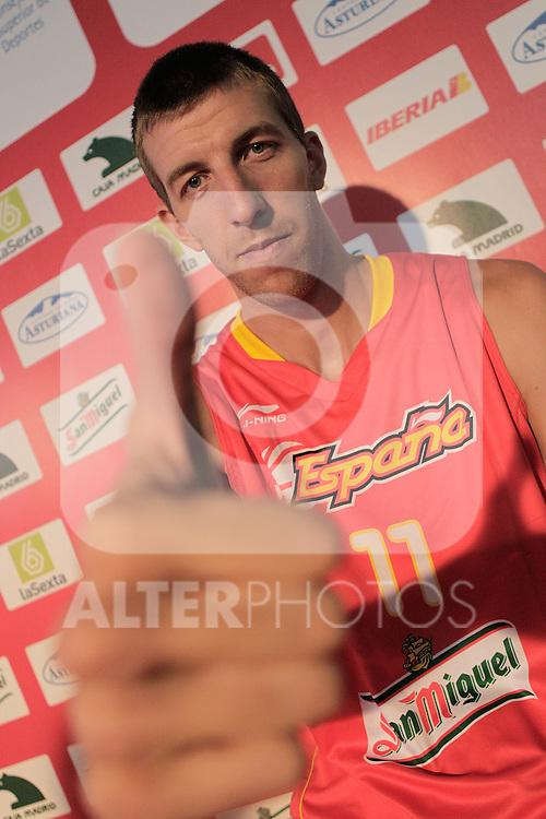 Spain's basket national team player Fran Vazquez during presentation for world championships. July 21, 2010. (ALTERPHOTOS/Alvaro Hernandez)