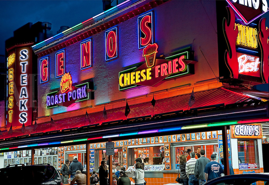 Geno's Steaks, South Philly, Philadelphia, PA, USA