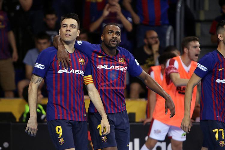 League LNFS 2018/2019.<br /> Play Off. Game: 5.<br /> FC Barcelona Lassa vs El Pozo Murcia: 3-2.<br /> Sergio Lozano.