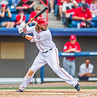 13 March 2016: Washington Nationals outfielder Jayson Werth in action during a pre-season Spring Training game against the St. Louis Cardinals at Space Coast Stadium in Viera, Florida. The teams played to a 4-4 draw in Grapefruit League play. Mandatory Credit: Ed Wolfstein Photo *** RAW (NEF) Image File Available ***